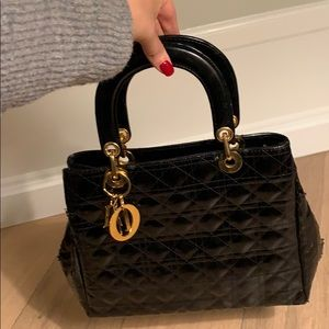 Christian Dior Patent Leather Tote